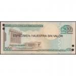 2006 - Dominican Republic P179s1 500 Pesos Oro  Specimen banknote