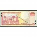 2011 - República Dominicana P187s billete 1000 Pesos Oro Specimen